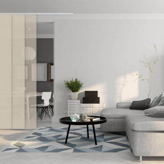 Panneaux coulissants de luxe en toile solaire 1% 5801