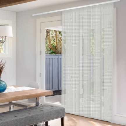 Panneaux coulissants de luxe en toile solaire 10% 4548
