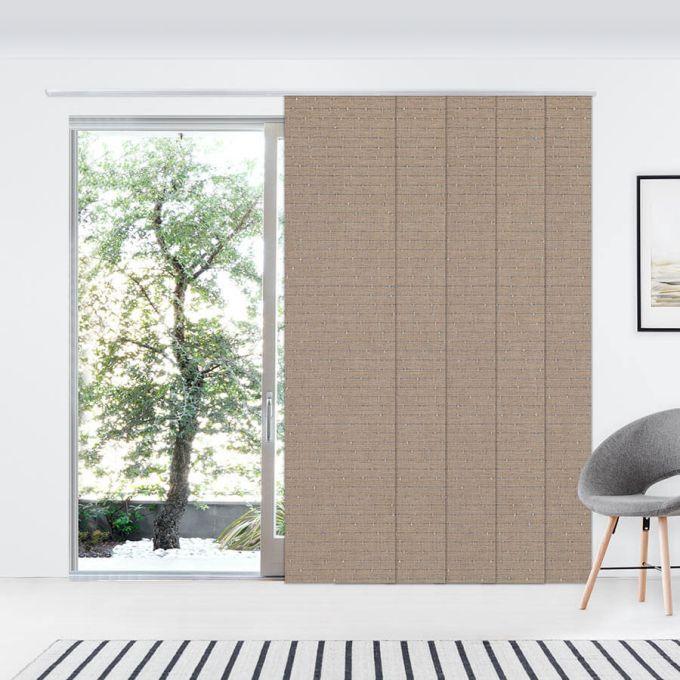 Panneaux coulissants de luxe en toile solaire 3% 7350