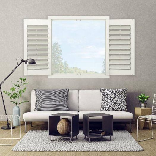 Persiennes en bois décorateur 8113