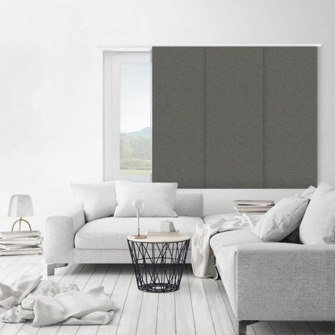Premium Blackout Fabric Panel Track Blinds 8336