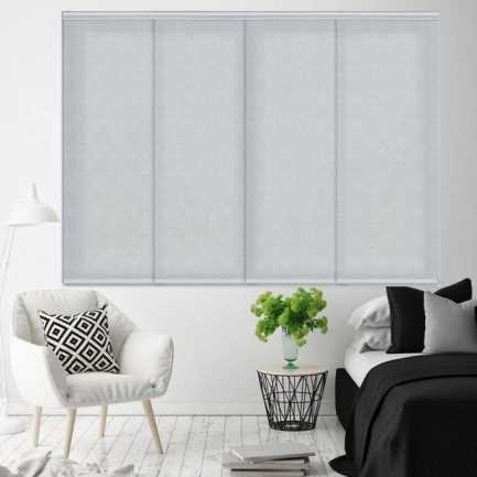 Premium Light Filtering Fabric Panel Track Blinds 4578