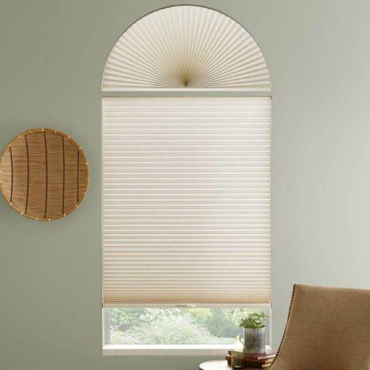 Stores cellulaires filtres de lumière à cellule simple pour fenêtres en arche 7172 Thumbnail
