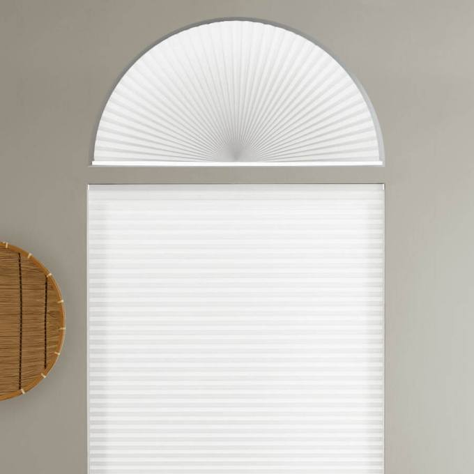Single Cell Light Filtering Arch Window Shades