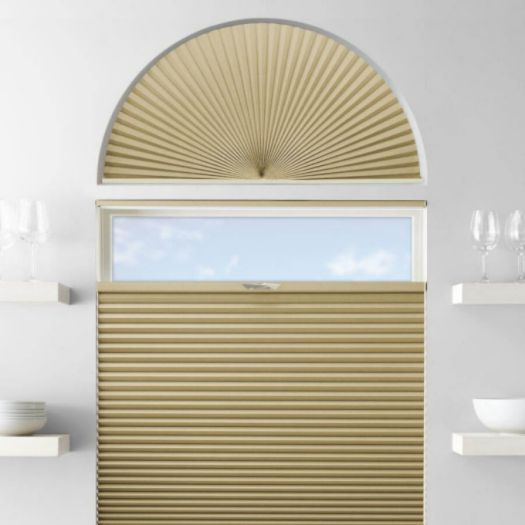 Single Cell Blackout Arch Window Shades 7305