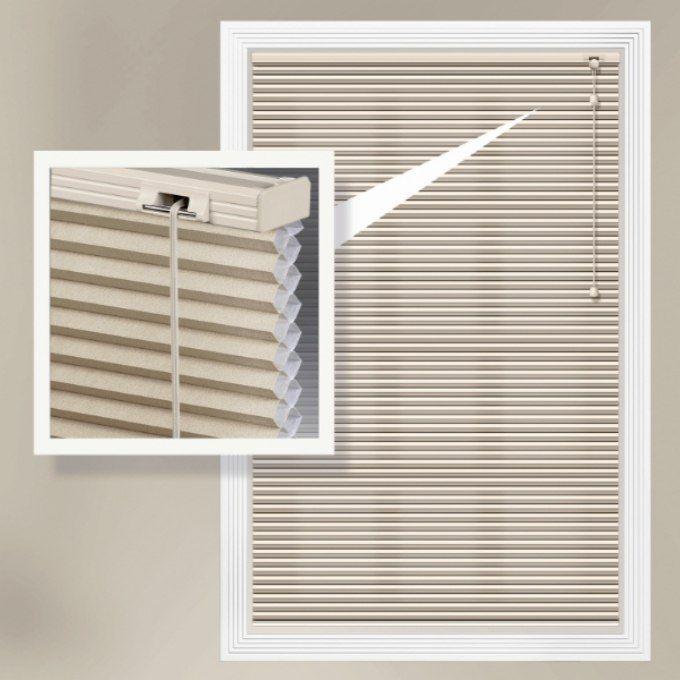 Stores cellulaires filtres de lumière à cellule double de luxe de 1/2 po 4353