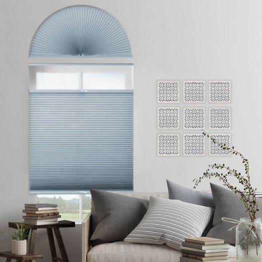 Stores cellulaires filtres de lumière à cellule double pour fenêtres en arche 7332
