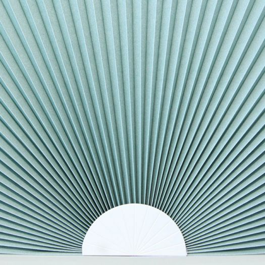 Stores cellulaires filtres de lumière à cellule double pour fenêtres en arche 7335