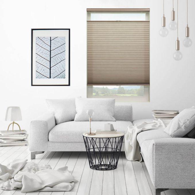 Stores cellulaires filtres de lumière à cellule simple signature décorateur (Carriann) de 3/4 po 4646