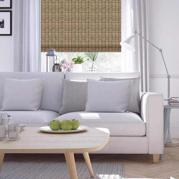 Stores en bois tissé/bambou de luxe 6068