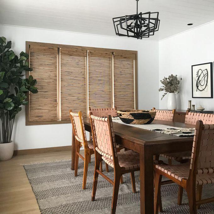 Stores en bois tissé/bambou de luxe 6069