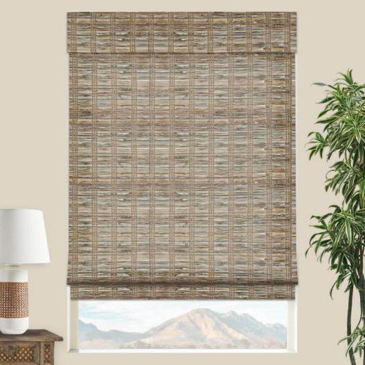 Stores en bambou/bois tissé de luxe plus 5342