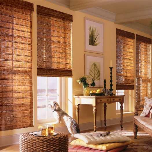 Stores en bambou/bois tissé de luxe plus 5345