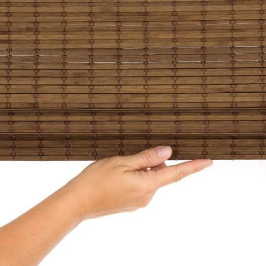 Stores en bois tissé/bambou sans cordon avantage 6824