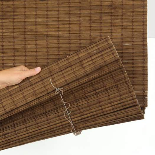 Stores en bois tissé/bambou sans cordon avantage 6825