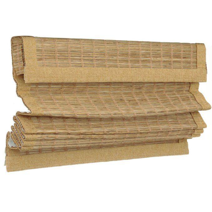Stores en bois tissé îles décorateur 7566