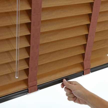 Stores imitation bois de Luxe Plus de 2 po 4566