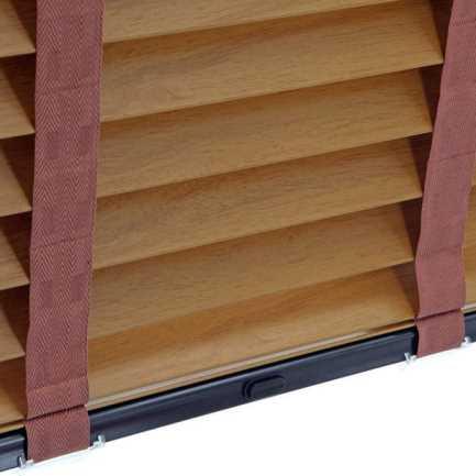 Stores imitation bois décorateur de 2 po 7016