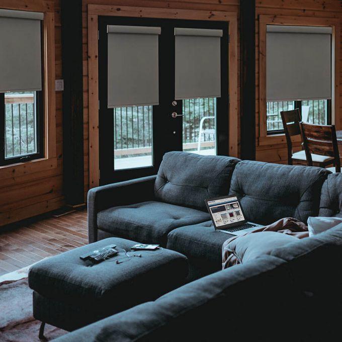 Toiles à rouleau noircissante en tissu de luxe 4202