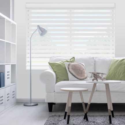 Toiles diaphanes horizontales 3 po de luxe à filtre de lumière 4150