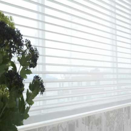 Toiles diaphanes horizontaux 2 po de luxe à filtre de lumière 4497