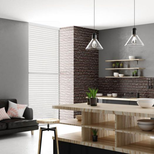 Toiles Diaphanes Horizontaux 3 po de luxe à Filtre de Lumière 4151