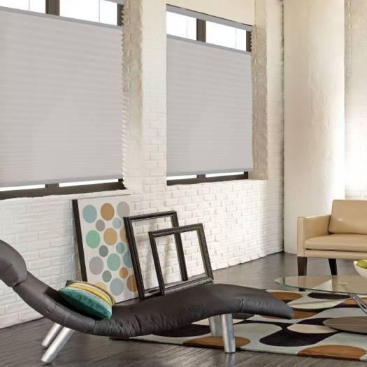 Toiles plissées descendant/ascendant sans cordon filtres de lumière Décorateur Plus 4431