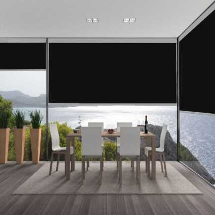 Value Vinyl Blackout Roller Shades 5878 Thumbnail