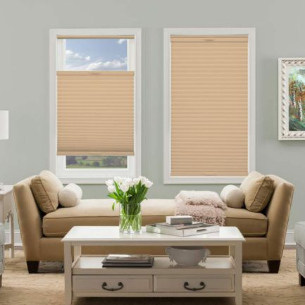 "1/2"" Single Cell (Carriann) Designer Signature Light Filtering Honeycomb Shades"