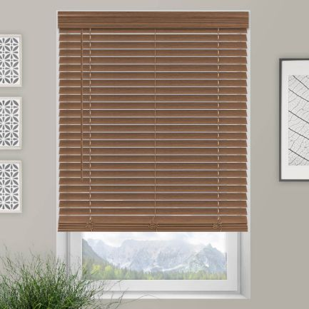 "2"" Value Cordless Faux Wood Blinds"