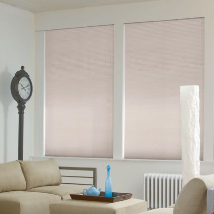 "3/8"" Single Cell Premium Blackout Honeycomb Shades"