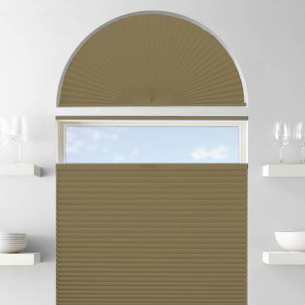 Stores cellulaires noircissants à cellule simple pour fenêtres en arche