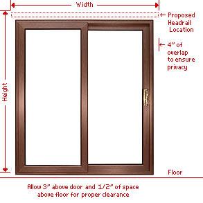 Patio Door Mount for Panel Track Blinds