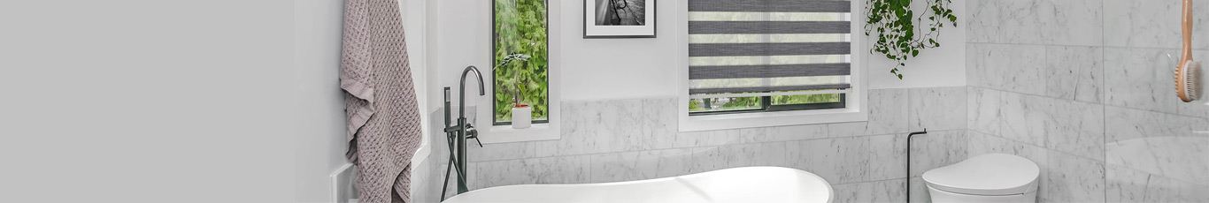 Buy custom bathroom shades for a perfect fit in your window