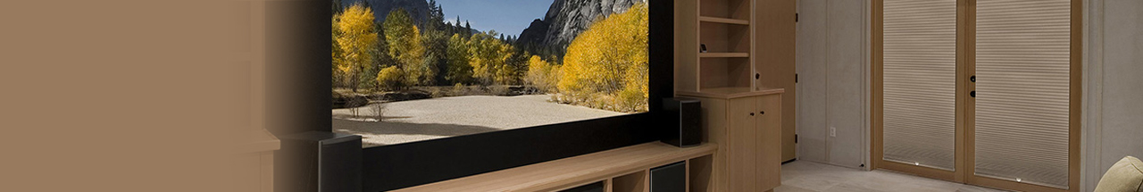 Buy custom media room shades for a perfect fit in your window