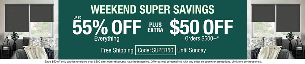 Up to 55% off everything plus extra $50 off orders $500+