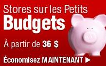 Stores pour les petit Budgets