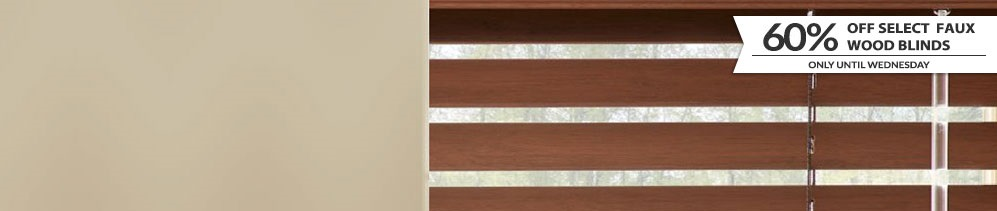 Faux Wood Blinds header image