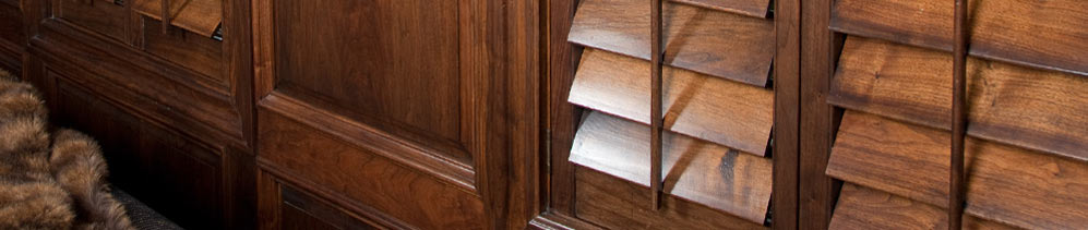 Wood Shutters and Plantation Shutters Header Image